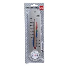 得力 室内外温湿度计  9013(条形)