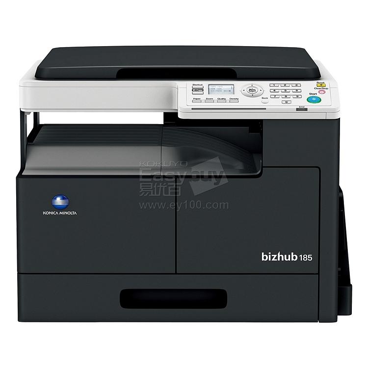 柯尼卡美能达 黑白数码复印机(含木制工作台) (黑) 盖板+单纸盒配置  bizhub 185