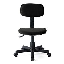 山业 SANWA简约型无扶手职员椅 (黑)  100-SNC028BK