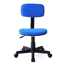 山业 SANWA简约型无扶手职员椅 (蓝)  100-SNC028BL