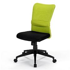 山业 SANWA简约型无扶手带腰靠职员椅 (绿)  150-SNC055G