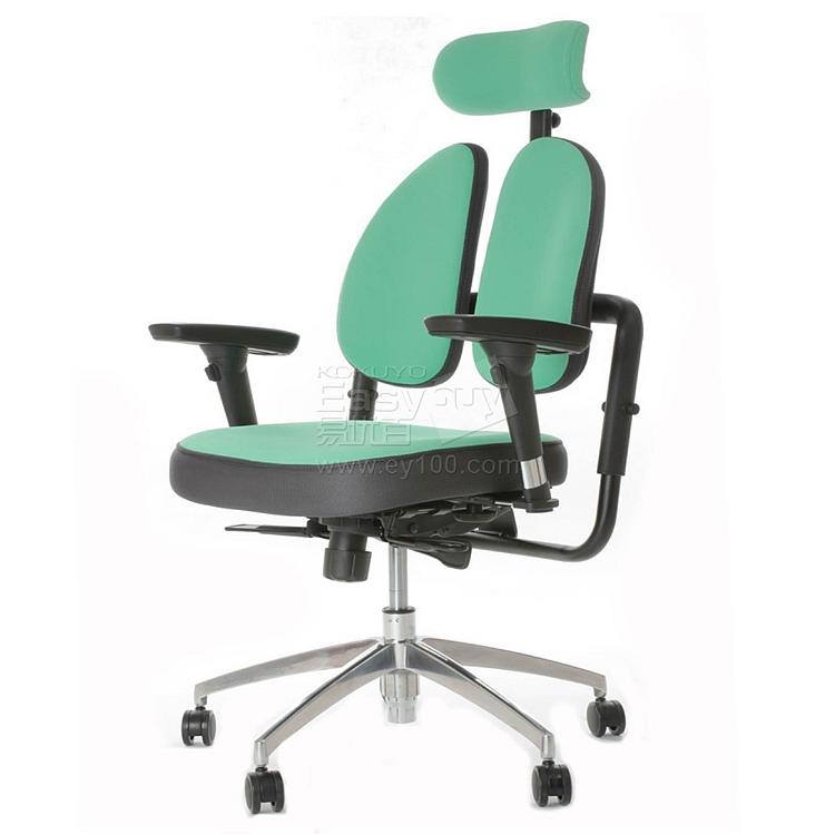 普格瑞斯 人体工学双背办公椅 (绿) 进口抗菌网布  PH-32BH