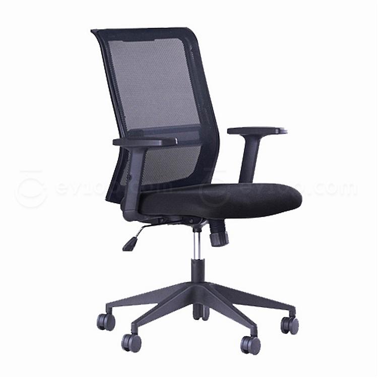 国誉 办公椅 (黑) 635*570*940-1035mm  CCR-G7616DNN
