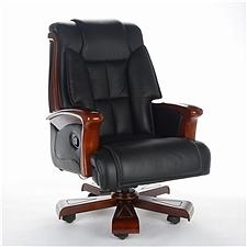 顺发 半牛皮大班椅 (黑)  SH-1408A