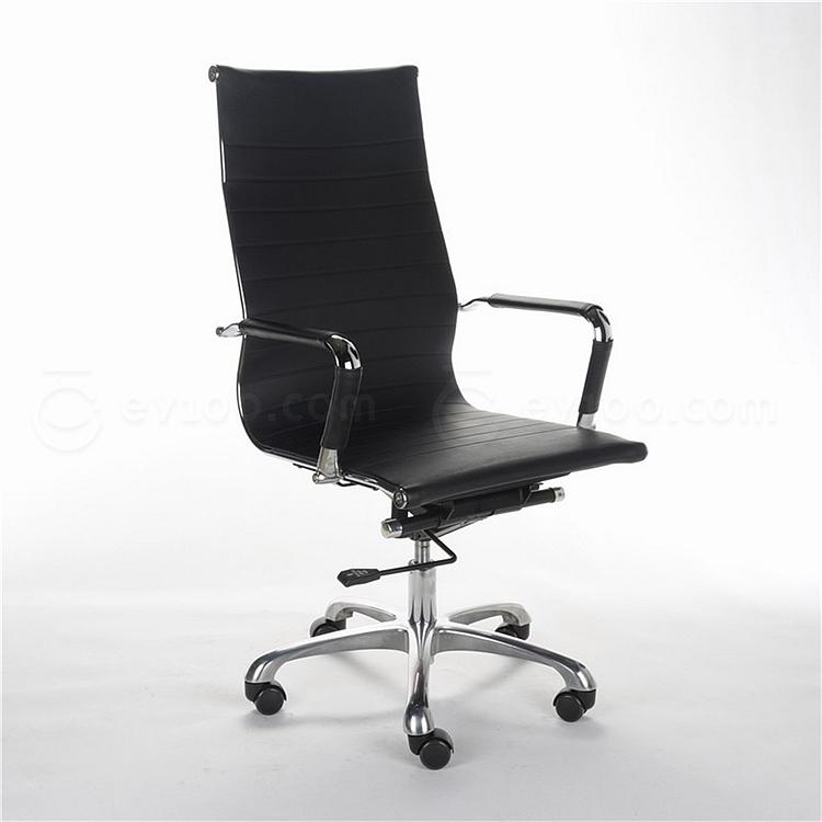 顺发 仿皮主管椅 (黑)  SH1407A
