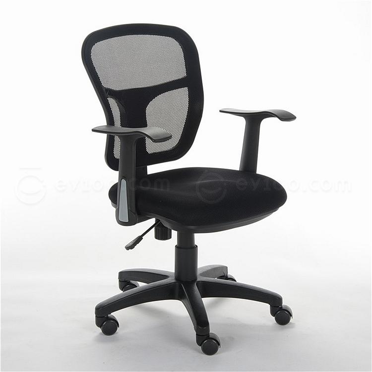 顺发 网布职员椅 (黑)  SH1011