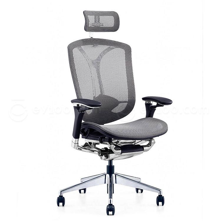 集大 办公椅 (灰) W670*D690*H1170-1220mm  CH-208A