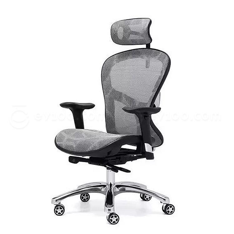 集大 办公椅 (灰) W630*D560*H1080-1180mm  Q9-9