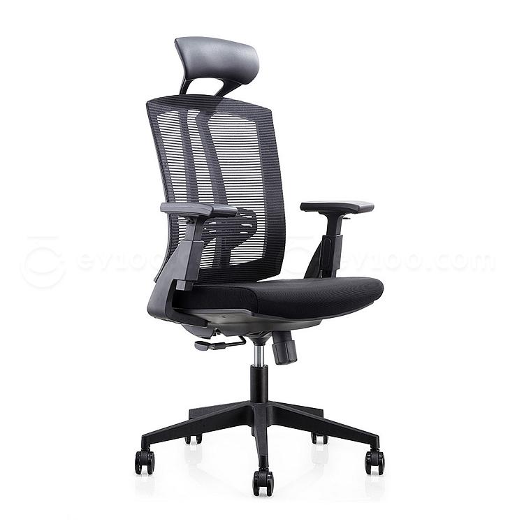 集大 办公椅 (黑) W630*D615*H1170-1270mm  CH-163A
