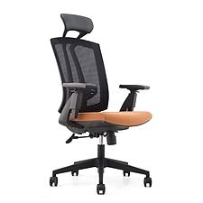 集大 办公椅 (黑背橙座) W630*D615*H1170-1270mm  CH-163A