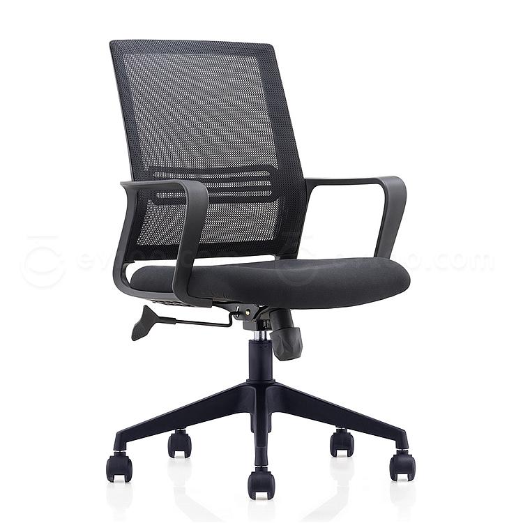 集大 办公椅 (黑) W580*D580*H925-1000mm  CH-191B