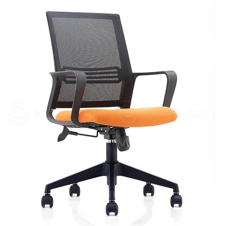 集大 办公椅 (黑背橙座) W580*D580*H925-1000mm  CH-191B