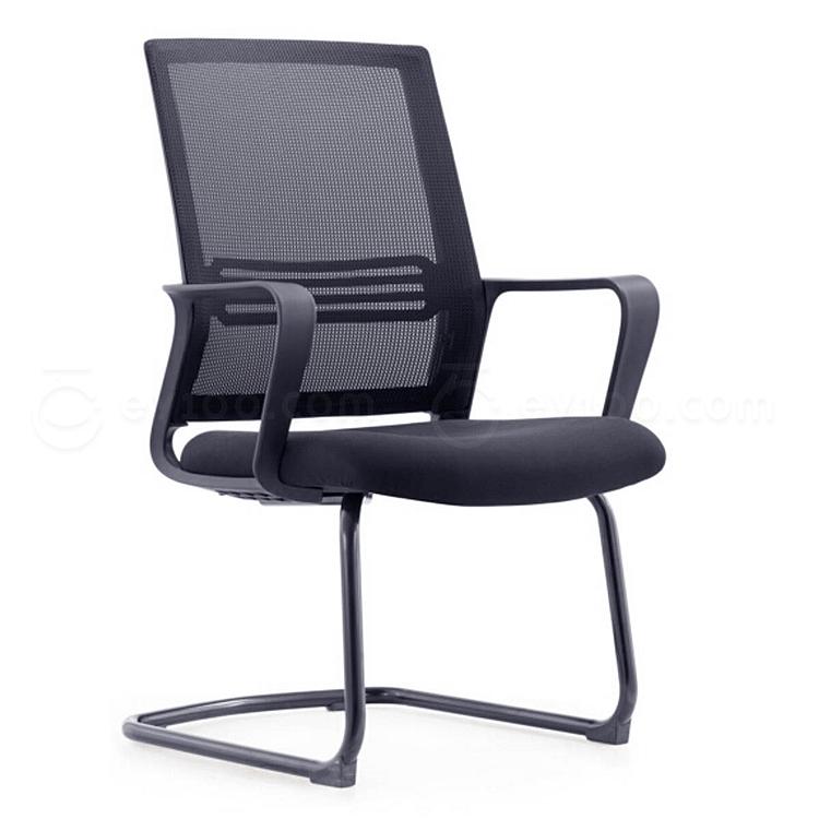 集大 弓形办公椅 (黑) W580*D560*H930mm  CH-191C
