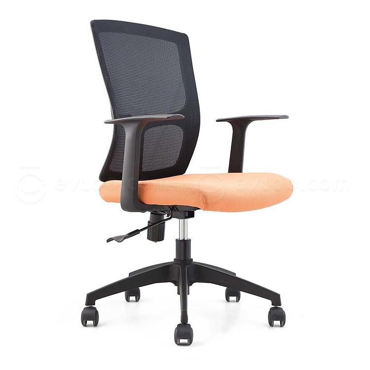 集大 办公椅 (黑背橙座) W620*D610*H910-990mm  CH-183B