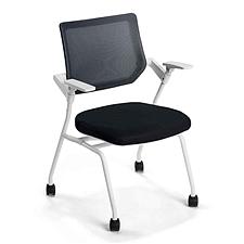 国誉 CLAVO洽谈会议椅 白框,黑色背座  AXB-K9WH43KCJE6-W