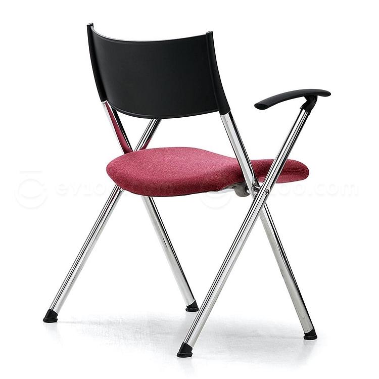 集大 培训椅 (黑背红座) W600*D590*H780mm  CH-039C