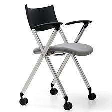 集大 培训椅 (黑背灰座) W600*D590*H780mm  CH-039C-2