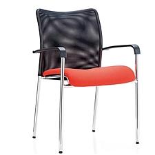 集大 培训椅 (黑背红座) W490*D570*H900mm  CH-046C