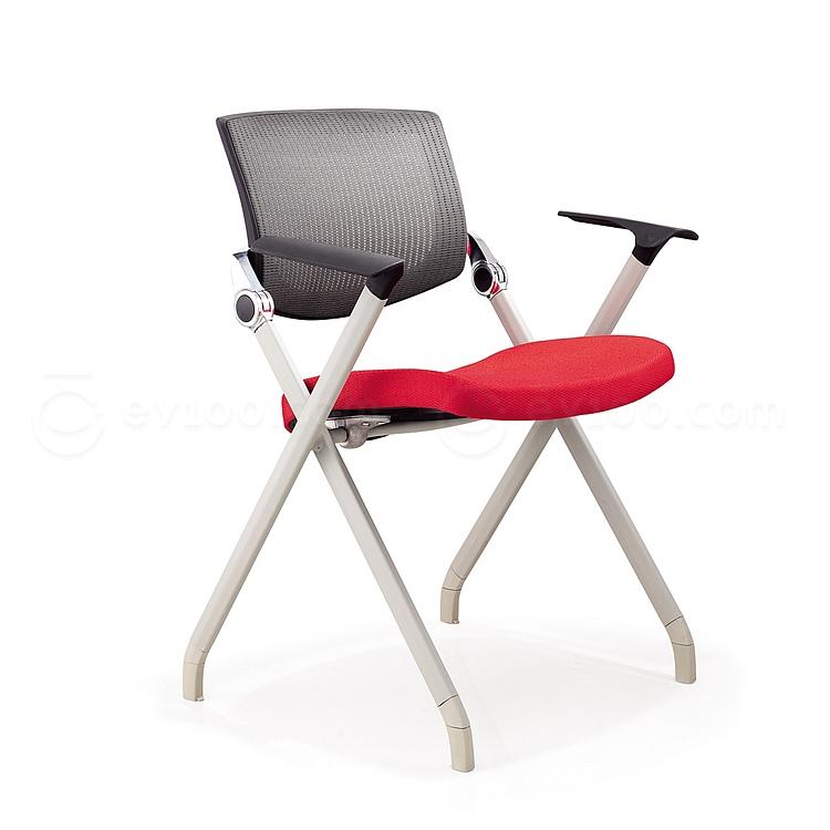 集大 培训椅 (黑背红座) W700*D570*H840mm  LACK-1B