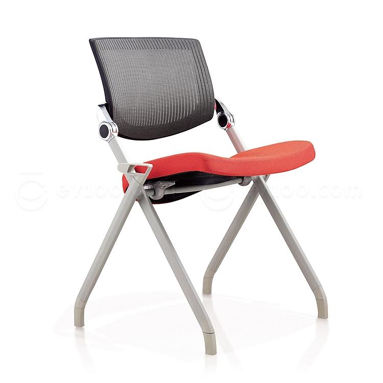 集大 培训椅 (黑背红座) W700*D570*H840mm  LACK-2B