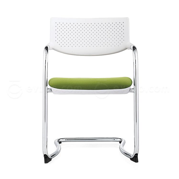 集大 培训椅 (白背绿座) W530*D580*H840mm  CH-172C