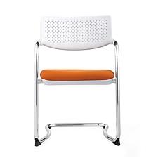 集大 培训椅 (白背橙座) W530*D580*H840mm  CH-172C