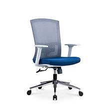 吳俚 人體工學辦公椅 (灰背藍座) 640W*660D*950H  U-037B-2