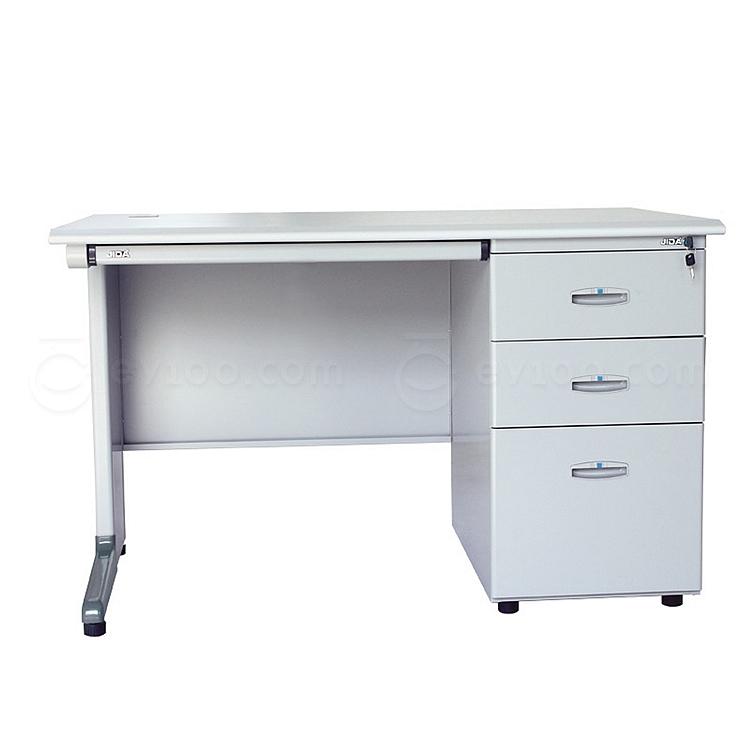 集大 办公桌(扁抽) (浅灰色) 1400*700*740mm  GX-1470A