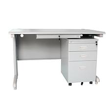 集大 办公桌(扁抽) (浅灰色) 1400*700*740mm  GX-1470B