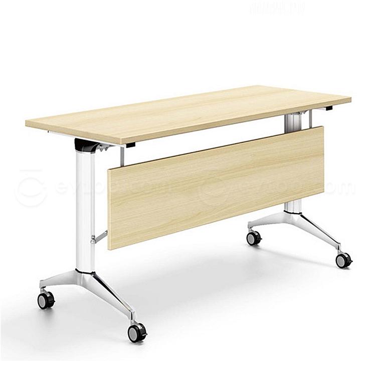 集大 折叠培训桌 (枫木色) W1400*D500*H750  FS001A-14