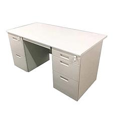 国誉 钢制双袖桌(第三代) (米白) 1600W*700D*740H  AXA-DD34