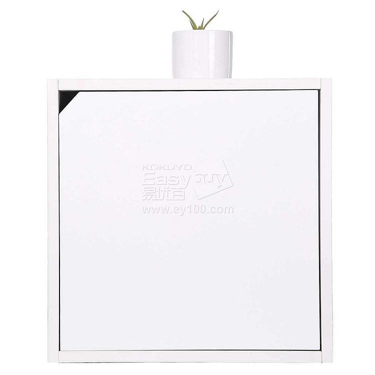 吴俚 积木系列彩色心情储物柜 (珍珠白) 400*400*400mm  WLG003单抽式