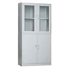 发力 玻璃开门柜 (灰白)  FL-021