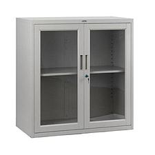 集大 单节玻璃开门柜 (浅灰) W900*D450*H920mm  CB-BK-9
