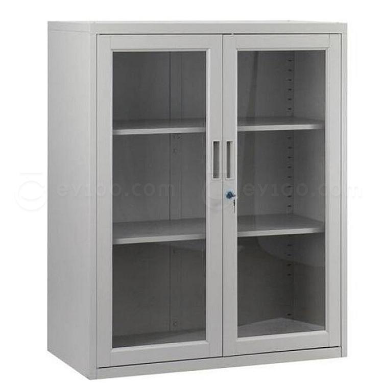 集大 单节玻璃开门柜 (浅灰) W900*D450*H1090mm  CB-BK-10