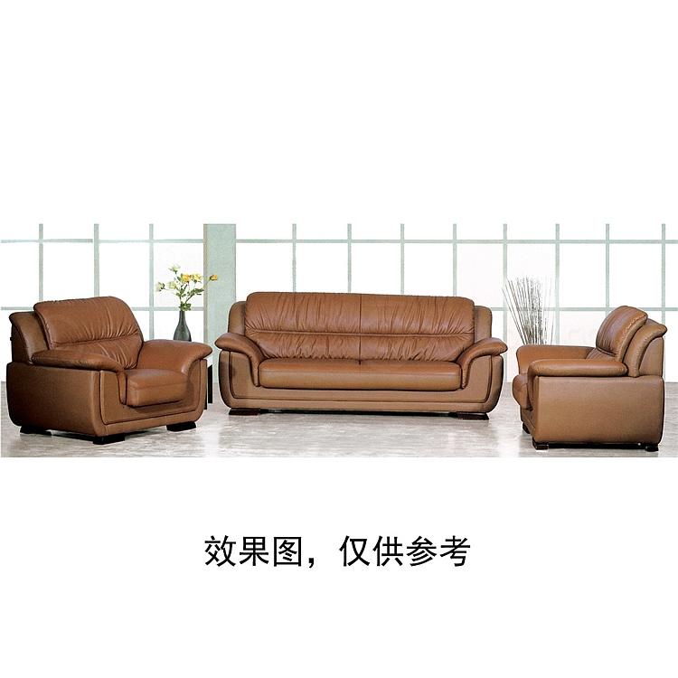 顺发 三人位真皮沙发 (深棕) 2000W*900D*870H  SH6105