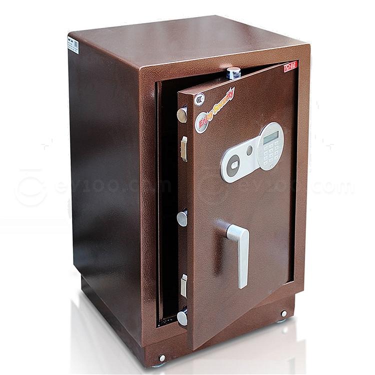 全能 电子密码保险箱防盗保险柜 (棕色) 80KG  HG-6842